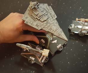Star Wars: Armada - Adjusting shield dials