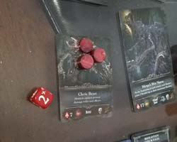 Bloodborne the Card Game - die combo