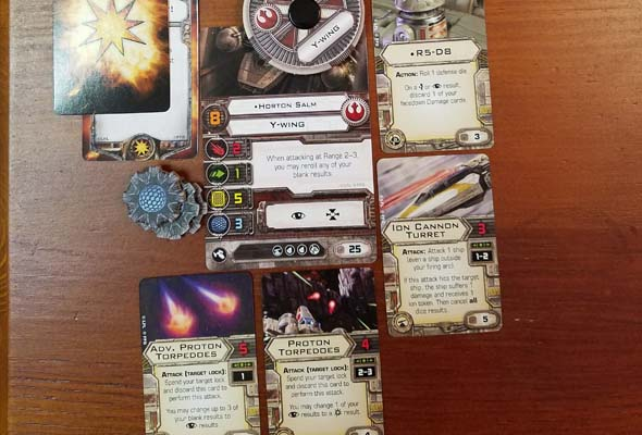 Star Wars X-Wing - Y-Wing upgrades