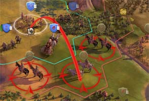Civ VI - ranged strike