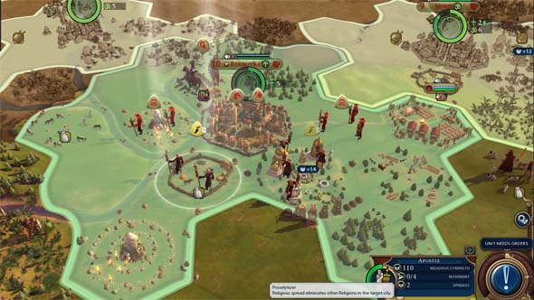 Civilization VI - convert Scythia's cities