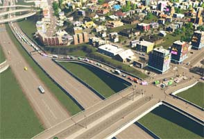 Cities: Skylines - congested highway