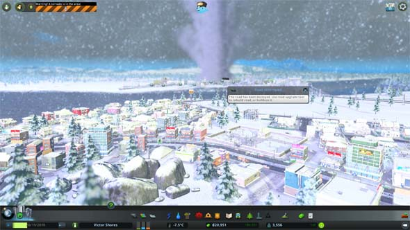 Cities Skylines: Natural Disasters - winter tornado