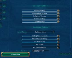 Civilization VI - advanced settings