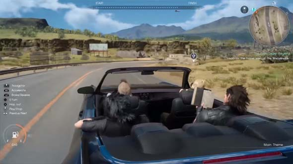 Final Fantasy XV - reading in the car