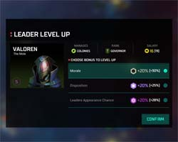 Master of Orion - leader upgrade