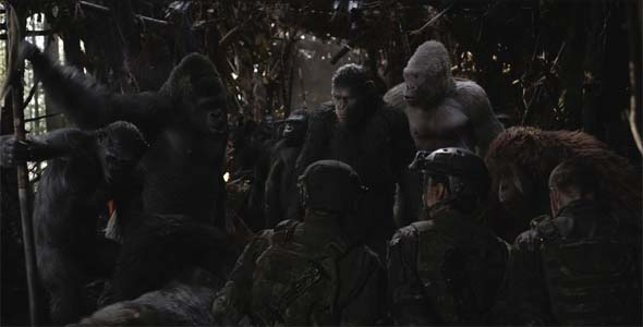 War for the Planet of the Apes - soldiers captured