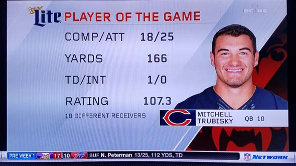 Mitch Trubisky - player of the game