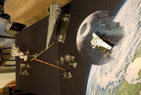 Star Wars X-Wing - six feet apart