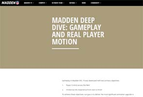 Madden 19 - real player motion