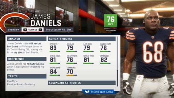 Madden 19 - blocking ratings