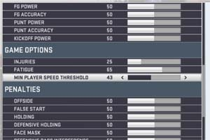 Madden 19 - speed threshold