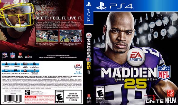 Madden 25- back of the box