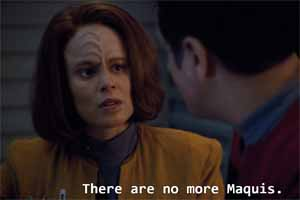 Star Trek: Voyager - no more Maquis