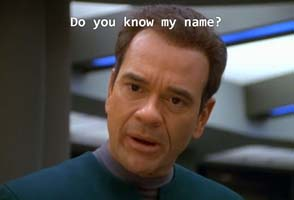 Star Trek: Voyager - Doctor selecting name