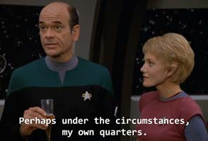 Star Trek: Voyager - Doctor wants quarters