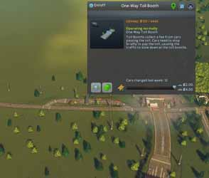 Cities: Skylines: Industries - functioning toll booth