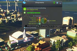 Cities: Skylines: Industries - historic theater