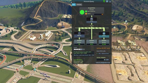 Cities: Skylines: Industries - industrial parks