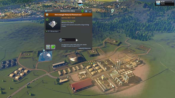 Cities: Skylines: Industries - resource drain