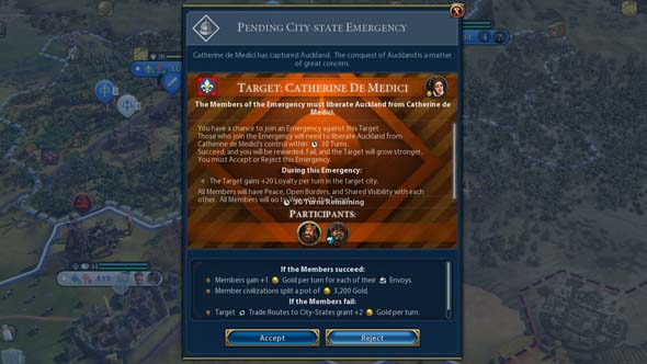 Civilization VI - emergency