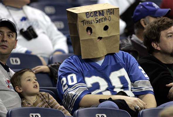 Detroit Lions bag head