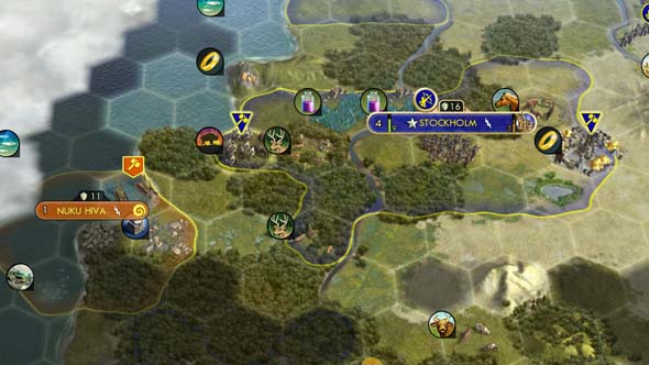 Civilization V - Polynesia forward settling