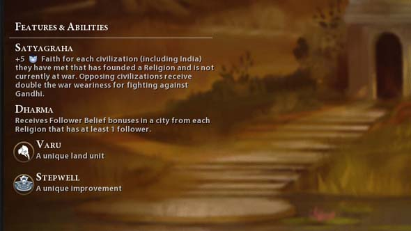 Civilization VI - Indian religion