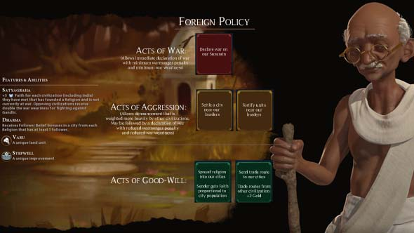 Civilization VI - MOCK Acts of Aggression and Acts of Friendship