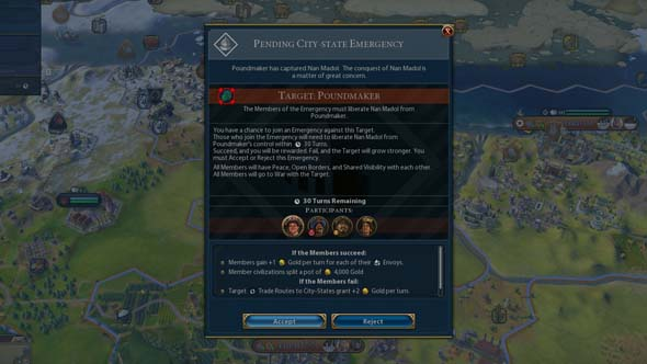 Civ VI Rise and Fall - emergency