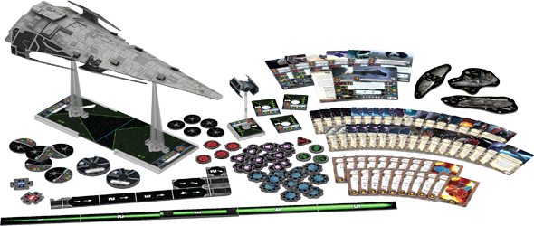 Star Wars X-Wing - Imperial Raider product contents