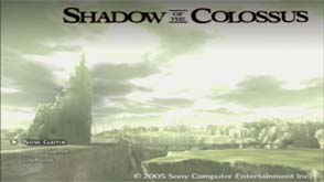 Shadow of the Colossus - original menu