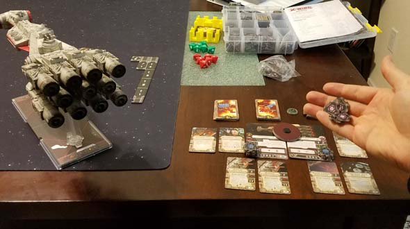 Star Wars X-Wing - Corvette energy set-up
