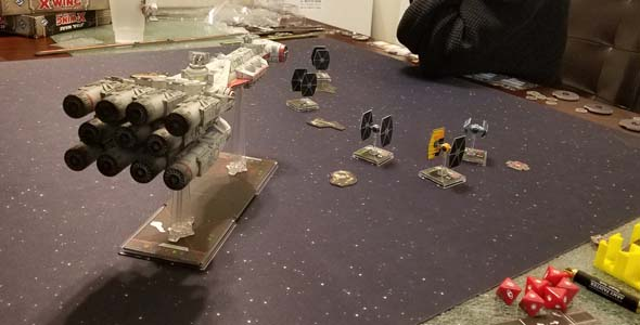 Star Wars X-Wing - Corvette v swarm
