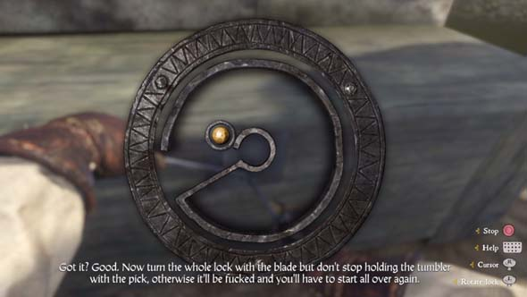 kingdom come deliverance how to lockpick