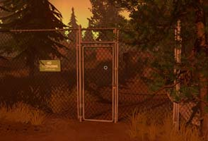 Firewatch - mysterious gate