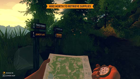 Firewatch - map