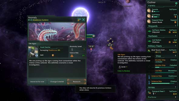 Stellaris - anomaly research