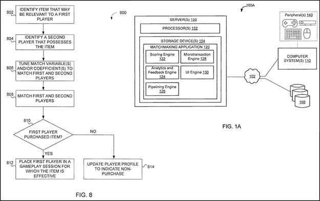 Activision DLC matchmaking patent