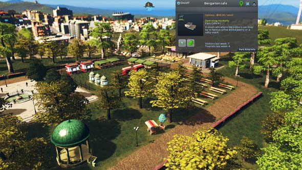 Cities: Skylines - park decorations
