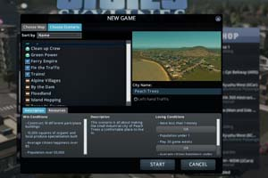 Cities: Skylines - scenarios