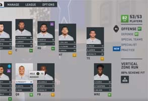 Madden 19 preview - depth chart scheme