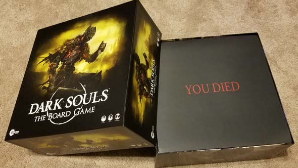 Dark Souls board game - YOU DIED
