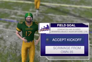 Maximum Football 2018 - kickoff option