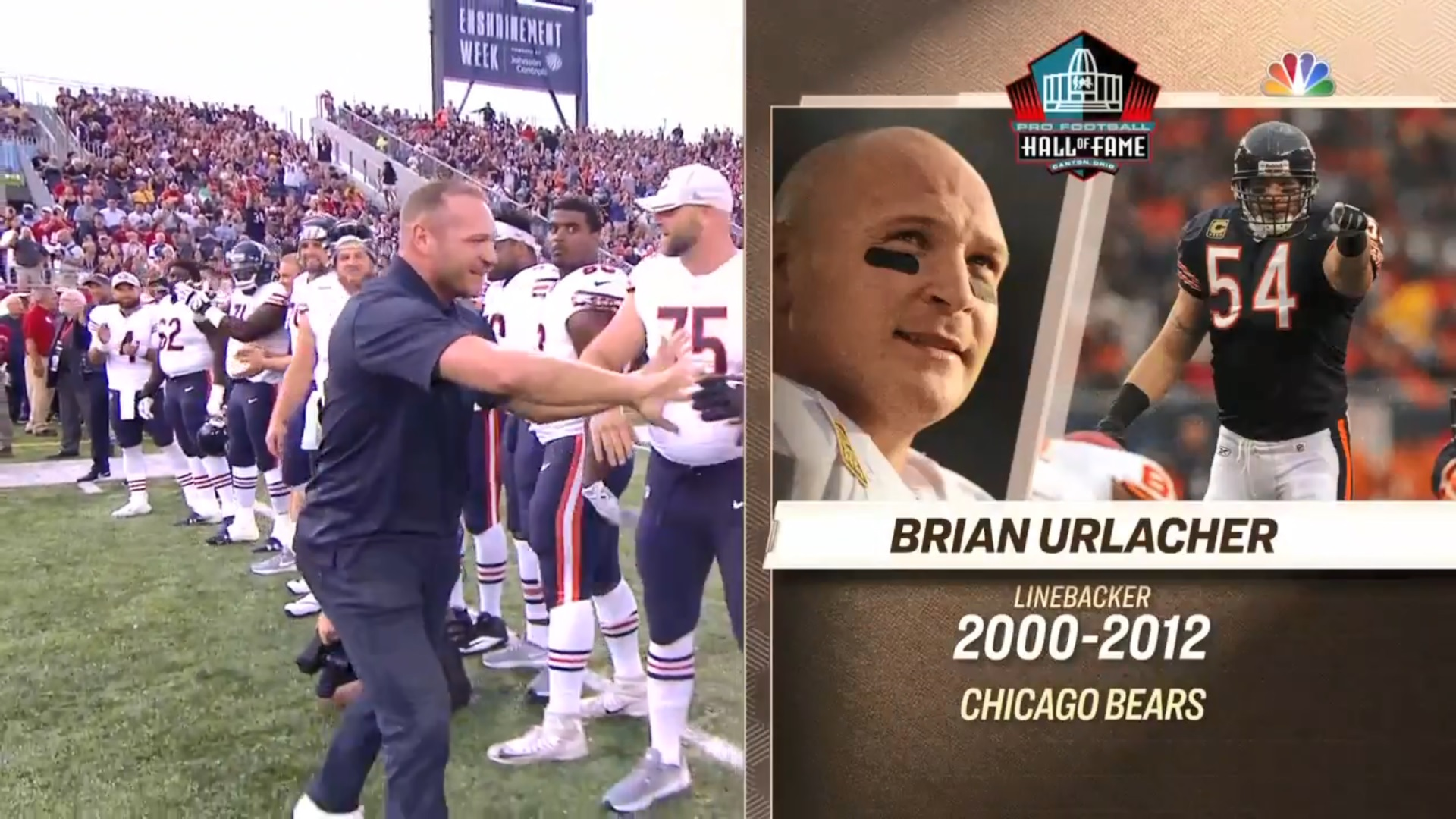 1a374ec5a88 Urlacher's Hall of Frame enshrinement gives us first look at Nagy's ...