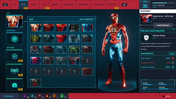 Marvel's Spider-Man - costumes
