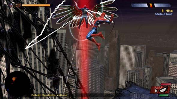 Spider-Man: Web of Shadows - aerial combat