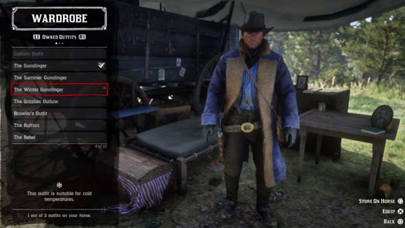 Red Dead Redemption II - outfits