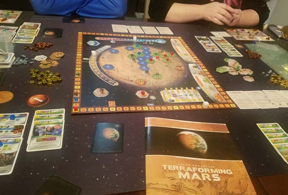 Terraforming Mars - board and tableaus