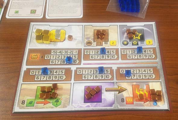 Terraforming Mars - cubes and economy board